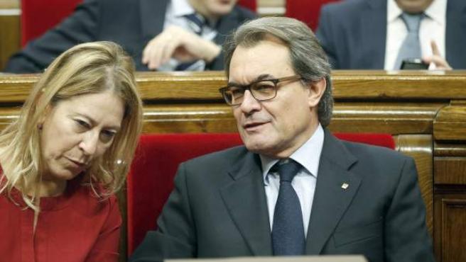 Artus Mas y Neus Munté en el Parlament.