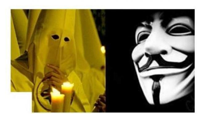 La BBC ha utilizado la imagen de un nazareno de San Gonzalo para ilustrar una noticia sobre el Ku Klux Klan.
