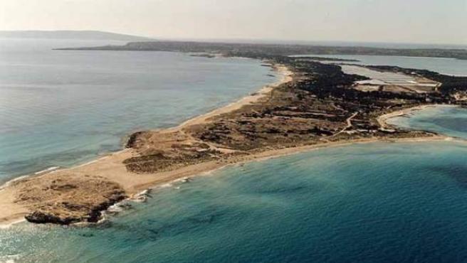 Un vista aérea de la playa de Ses Illetes, en Formentera.