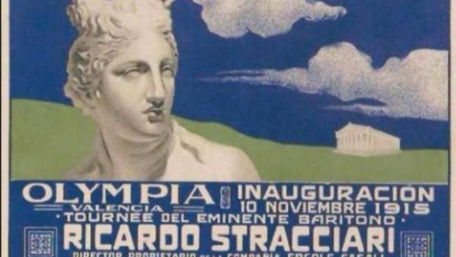 Cartel de la inauguración del Teatro Olympia