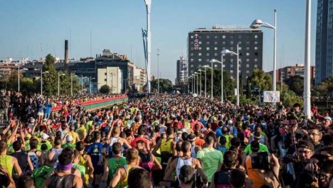 Participantes en el Maratón Valencia