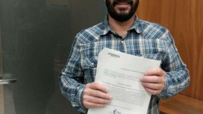 El diputado autonómico de Podemos David Moscoso