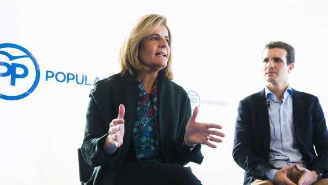 La ministra de Empleo, Fátima Báñez, en Ävila