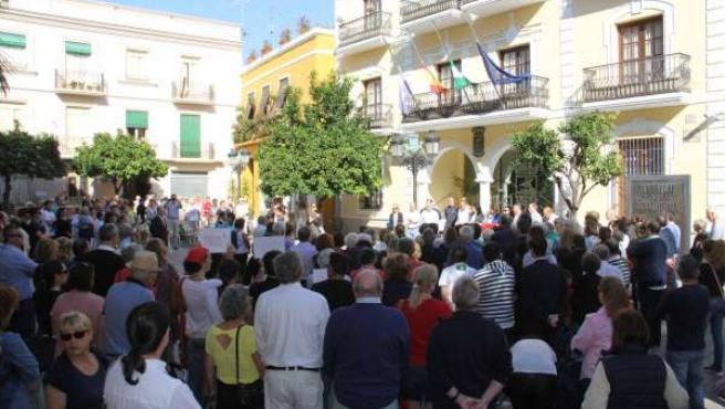 Minuto de silencio en Almuñécar (Granada)