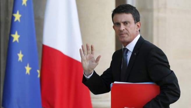 Manuel Valls, en el Palacio del Elíseo.