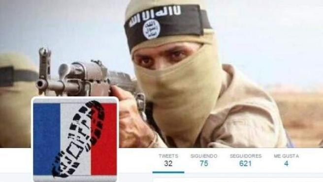 Perfíl de Twitter afín al Estado Islámico.
