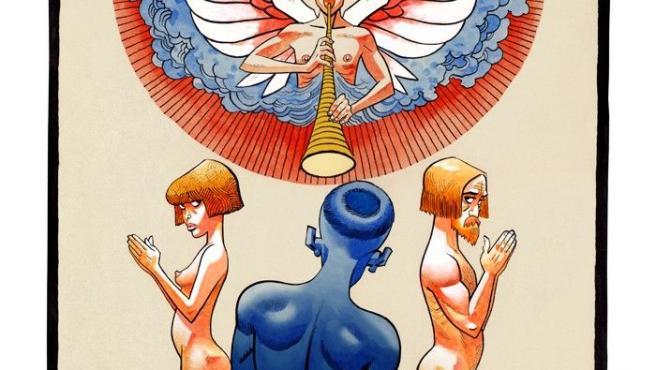 Una de las cartas de tarot rediseñadas por Jamie Hewlett, dibujante de cómics, ilustrador y diseñador inglés