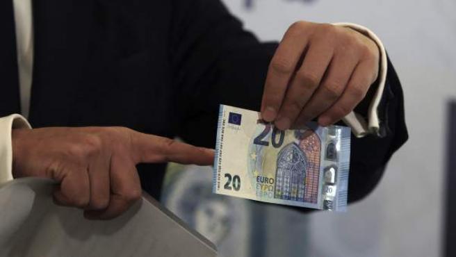 Imagen de archivo de un billete de 20 euros.