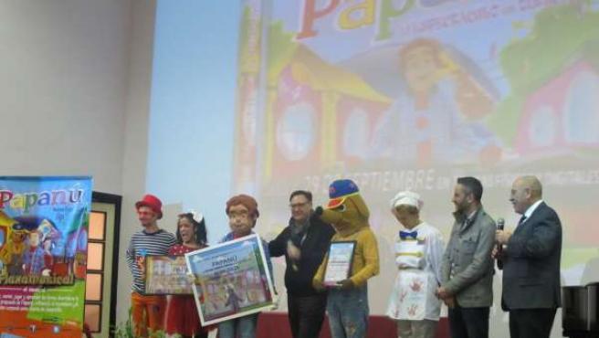 Actuación del grupo 'Papanú' en la biblioteca 'Francisco Villaespesa'