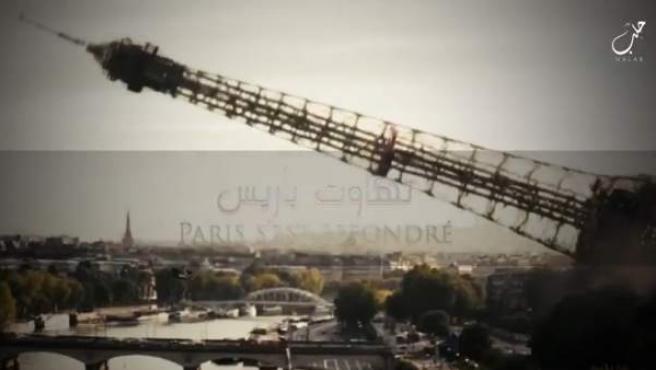 La torre Eiffel, amenazada en un nuevo vídeo por Estado Islámico.