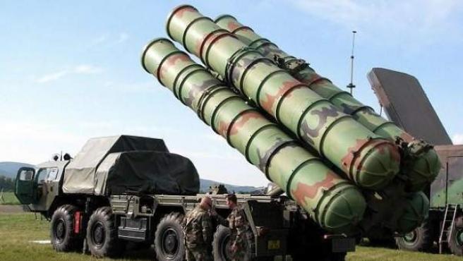 Misiles S-400 rusos, en una imagen de archivo.
