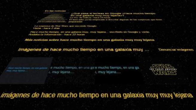 Homenaje de Google a Star Wars.