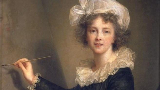 'La artista ejecutando un retrato de la reina María Antonieta', óleo de Vigée Le Brun datado en 1790