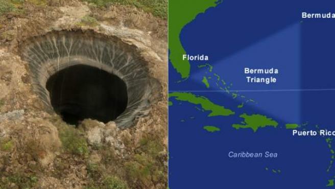 Los 'agujeros del fin del mundo' y el Triángulo de las Bermudas son un indicador de que las temperaturas han subido y ha causado la liberación de los hidratos de gas.
