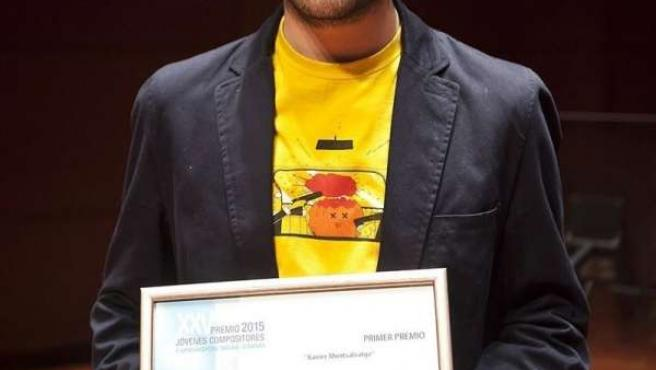 Oscar Escudero profesor de UNIR con el premio jóvenes compositores