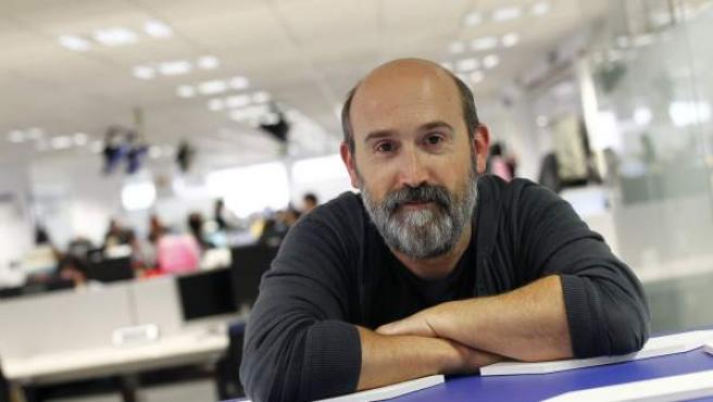 El actor Javier Cámara, en la redacción de 20minutos.