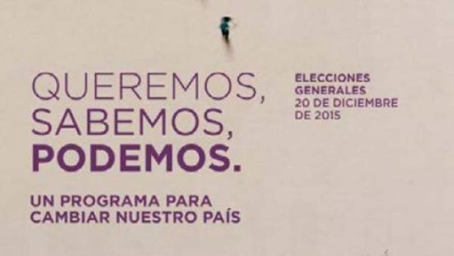 Portada del programa electoral de Podemos para las elecciones generales del 20 de diciembre.