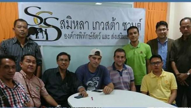 Imagen de la asociación Similac-Cuesta-Sans, con Frank Cuesta en el centro.