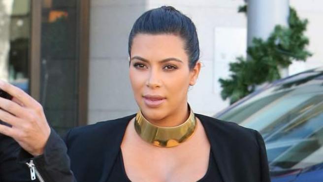 Kim Kardashian a principios de noviembre en un avanzado estado de gestación.