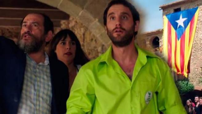 Dani Rovira, Karra Elejalde y Belén Cuesta en 'Ocho apellidos catalanes'.