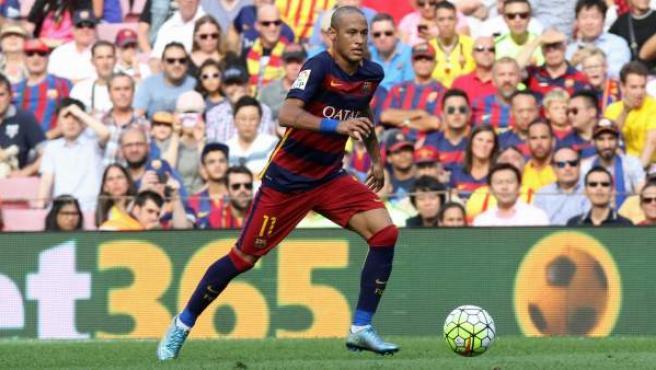 Neymar Júnior, en acción con el FC Barcelona.
