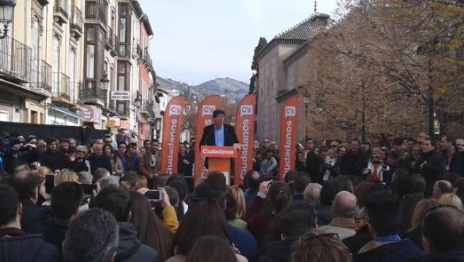 El portavoz de Ciudadanos en el Parlamento andaluz, Juan Marín.