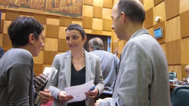 Ranera (PSOE) y concejales de CHA