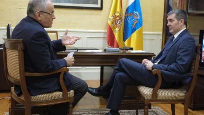 Daniel Cerdán y Fernando Clavijo