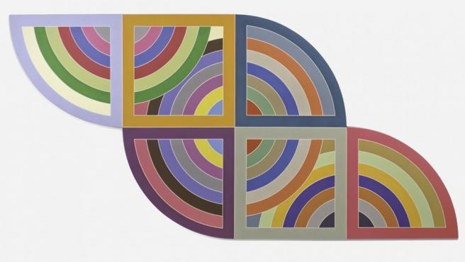 """'Harran II"""", una obra en polímero de 1967 del artista estadounidense Frank Stella"""