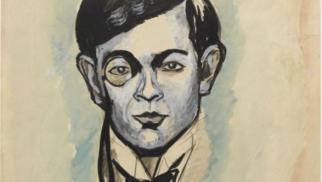 Picabia dibuja un retrato de su amigo Tristan Tzara en 1918