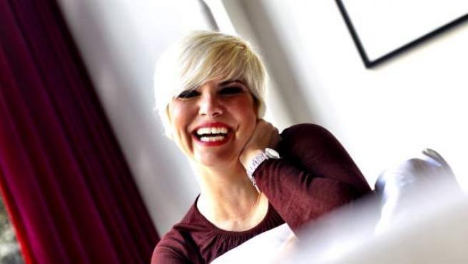 La cantante Pasión Vega, durante una entrevista con 20minutos.