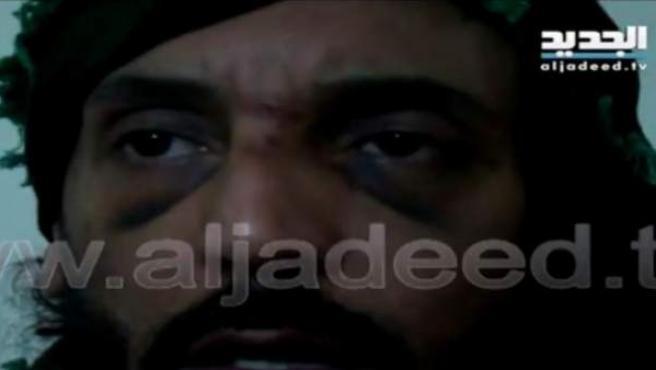 Hanibal Gadafi, en una imagen del vídeo de su secuestro.
