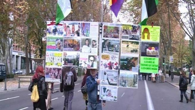 Un momento de la manifestación contra la Ley Mordaza en Madrid.