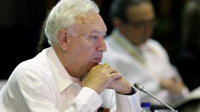 El ministro español de Asuntos Exteriores, José Manuel García-Margallo, en el encuentro de cancilleres de Iberoamérica en Cartagena (Colombia).