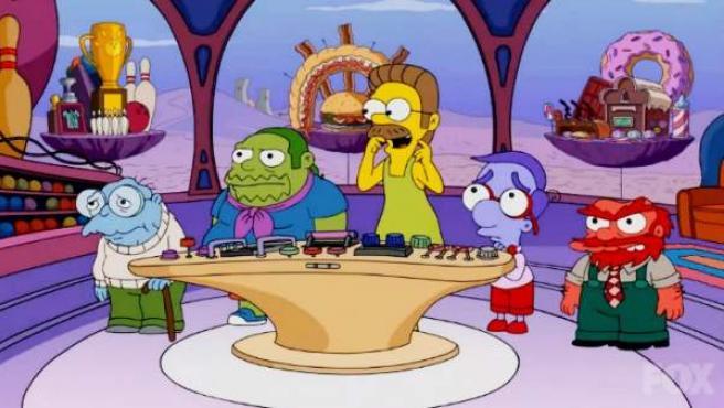 Los Simpson parodian a Inside Out.