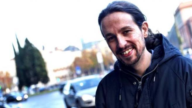 Pablo Iglesias, el domingo 13 de diciembre en Madrid.
