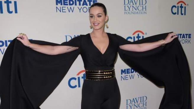 La cantante californiana Katy Perry, en un acto promocional en Nueva York.