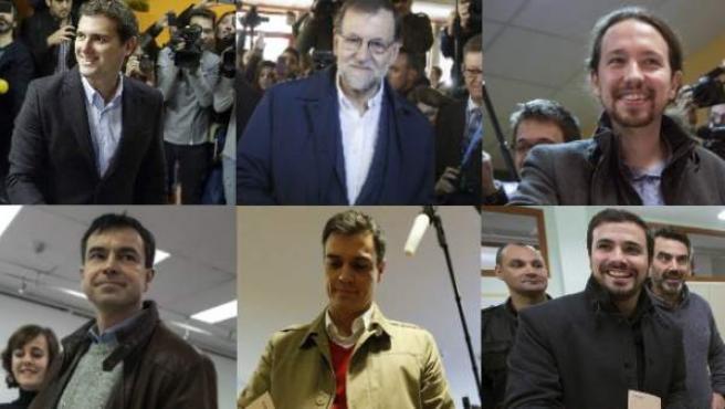 Candidatos a la Presidencia del Gobierno en las elecciones del 20 de deiciembre.
