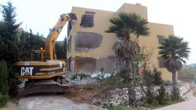 Demolición en Ceuta por motivos urbanísticos