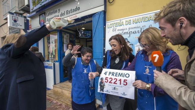 52215, cuarto premio de la Lotería de Navidad con anécdota ...