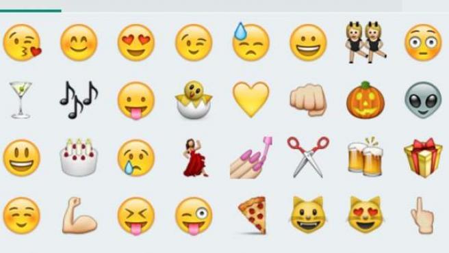 Emoticonos de WhatsApp.