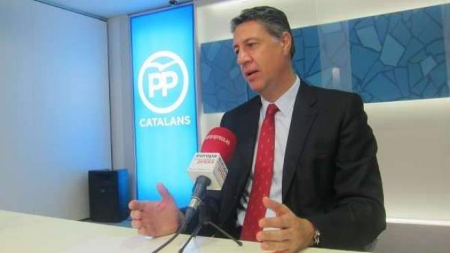El líder del PP en el Parlamento catalán, Xavier García Albiol.