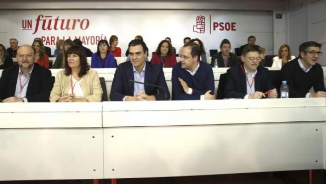 El secretario general del PSOE, Pedro Sánchez, en el Comité Federal del PSOE.