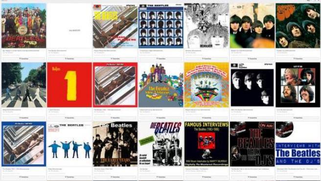 Álbumes de The Beatles en la plataforma de música en 'streaming' Deezer.