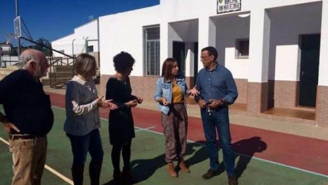 El presidente de la Diputación de Huelva, Ignacio Caraballo, en El Granado.