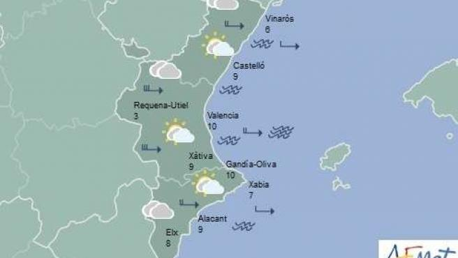 Predicción del tiempo en la Comunitat para este domingo 3 de enero