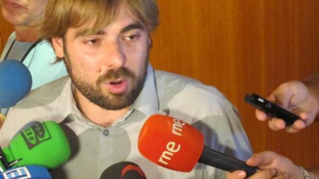 El portavoz adjunto de Podemos en la Junta General, Daniel Ripa
