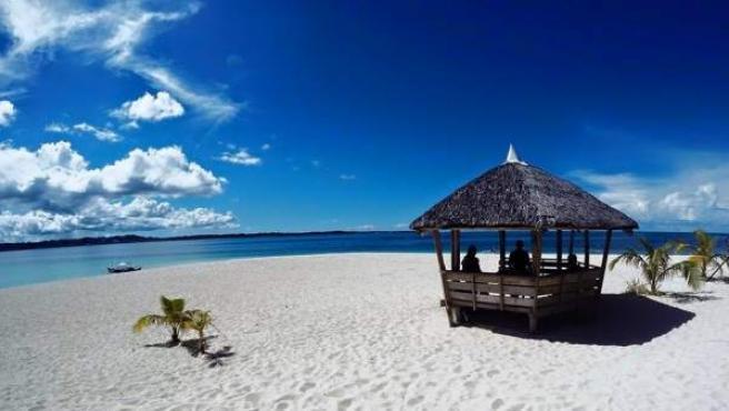 Una paradisiaca playa de Siargao, al sureste de Filipinas.