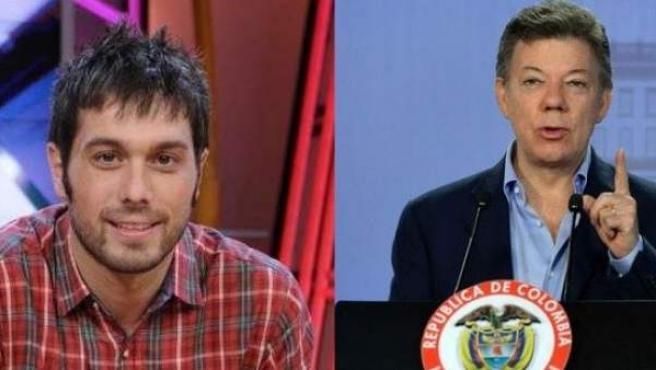 Dani Martínez y Juan Manuel Santos.