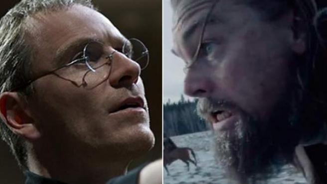 Michael Fassbender y Leonardo DiCaprio, principales favoritos a ser el actor del año en los Oscar y Globos de Oro.